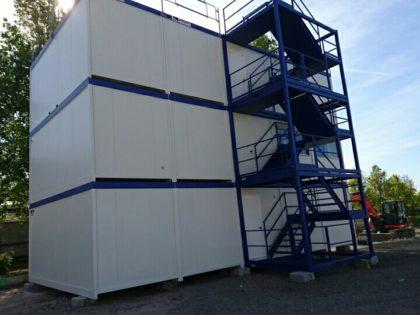 15 modules JAMART R+2 installés à Courbevoie pour les travaux du Grand Paris!