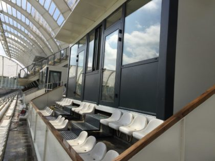 JAMART réalise des loges VIP avec terrasse pour l'Amiens SC au stade de la licorne!