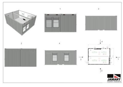 Plan Salle de classe 12 élèves JAMART - Réforme Macron