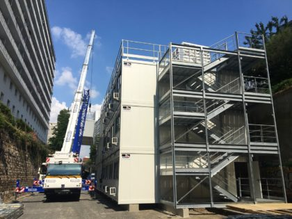 JAMART LOCATION MODULAIRE installe une base vie sur le GRAND PARIS!