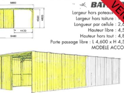 VENDU – Hangar pliable type ALGECO BATEX de 100m2 d'occasion