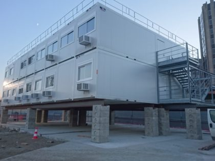 JAMART LOCATION MODULAIRE fourni les locaux pour les équipes sur le chantier du Grand Paris ligne 15!